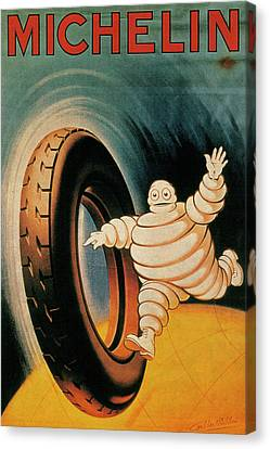 Michelin Tires Vintage Art Poster Canvas Print by Design Turnpike