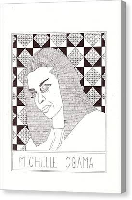 Michelle Obama Canvas Print - Michelle Obama by Benjamin Godard