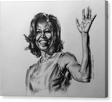 Michelle Obama  Canvas Print by Darryl Matthews