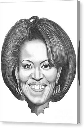 Michelle Obama Canvas Print by Murphy Elliott