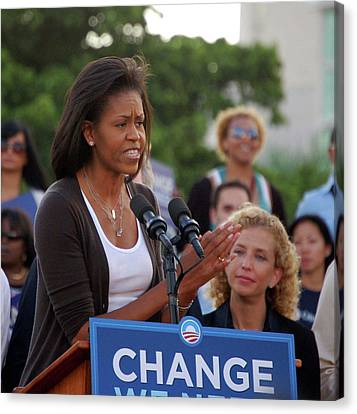 Michelle Obama Canvas Print by Richard Pross