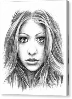 Michelle Trachtenberg Canvas Print by Ryan Jones