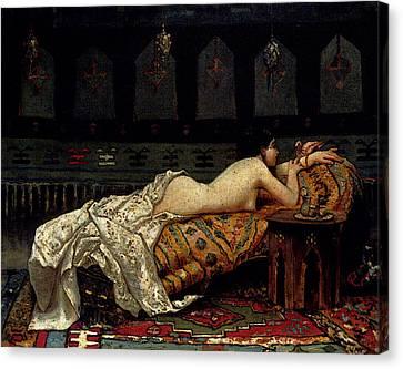 Michetti Francesco Paolo Odalisque Canvas Print