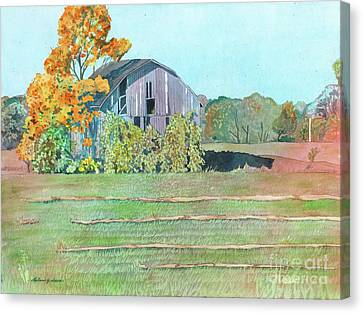 Michigan Autumn Barn Canvas Print