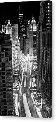On The Move Canvas Print - Michigan Avenue by George Imrie Photography