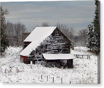 Michigan Barn Canvas Print by Patrick Murphy