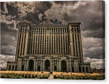 Michigan Central Station Canvas Print by Pravin  Sitaraman