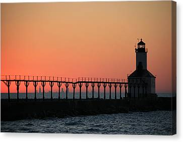 Michigan City East Pier Lighthouse Canvas Print