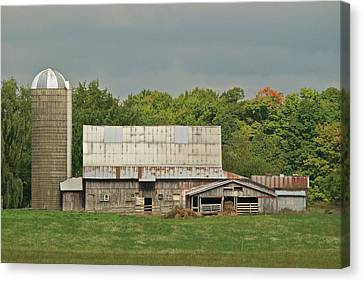 Michigan Dairy Barn Canvas Print by Michael Peychich