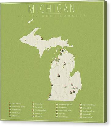 Michigan Golf Courses Canvas Print by Finlay McNevin