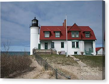 Canvas Print featuring the photograph Michigan Lighthouse II by Gina Cormier