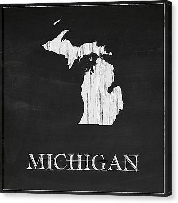 Michigan Map Canvas Print by Finlay McNevin