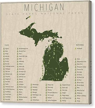 Michigan Parks Canvas Print by Finlay McNevin