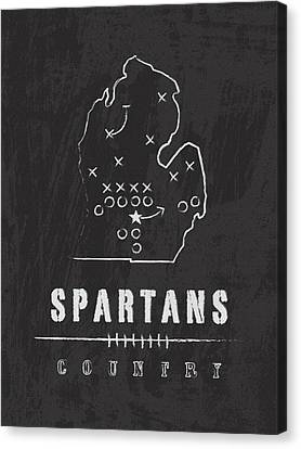 Michigan Spartans Country Canvas Print by Damon Gray