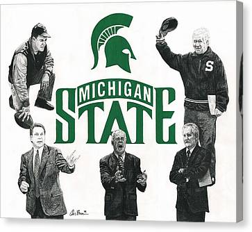Michigan State Coaching Legends Canvas Print by Chris Brown