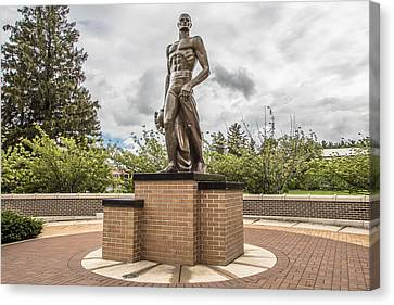 Michigan State - The Spartan Statue Canvas Print by John McGraw