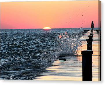 Michigan Summer Sunset Canvas Print by Bruce Patrick Smith