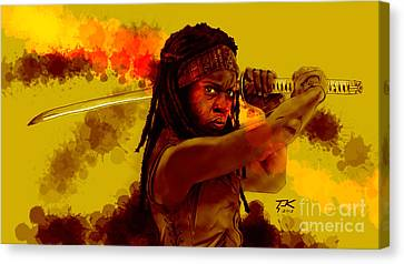 Michonne Canvas Print by David Kraig