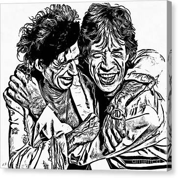 Mick And Keith Canvas Print by Sergey Lukashin