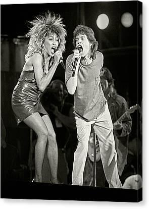 Mick And Tina At Live Aid 1985 Canvas Print