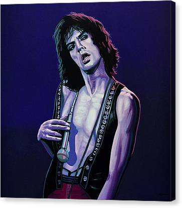 Rolling Stones Canvas Print - Mick Jagger 3 by Paul Meijering