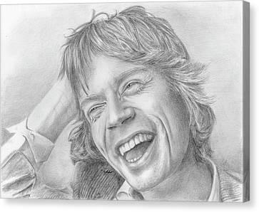 Mick Jagger Canvas Print