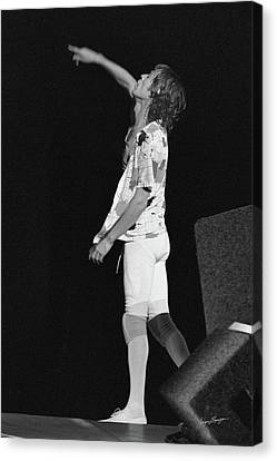 Mick Jagger Gestures On Stage Canvas Print