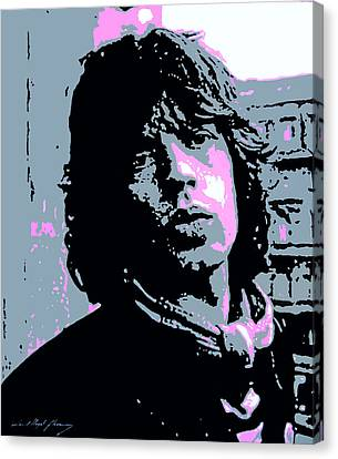 Rolling Stones Canvas Print - Mick Jagger In London by David Lloyd Glover