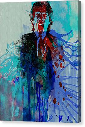 Rolling Stones Canvas Print - Mick Jagger by Naxart Studio