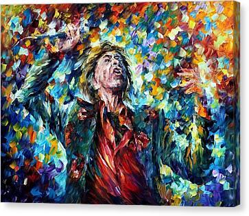 Mick Jagger Canvas Print by Leonid Afremov