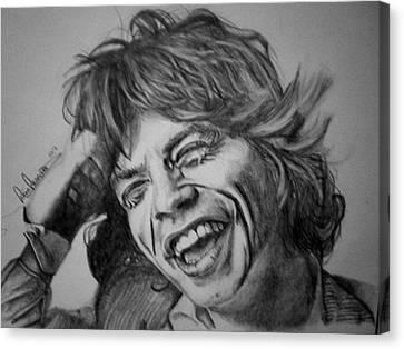 Mick Jagger Portrait Canvas Print by Sean Leonard
