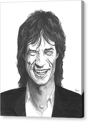 Mick Jagger Canvas Print by Russell Griffenberg