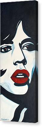 Mick Jagger Canvas Print by Suzette Castro