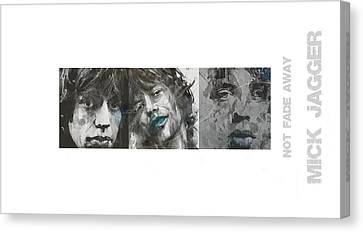 Mick Jagger Canvas Print - Mick Jagger Triptych by Paul Lovering