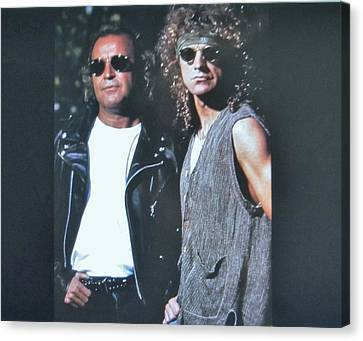 Glass And Metal Art Canvas Print - Mick Jones And Lou Gramm Of Foreigner by Donna Wilson