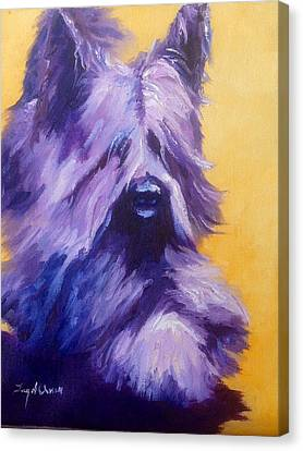 Mick Skye Terrier Canvas Print by Terry  Chacon