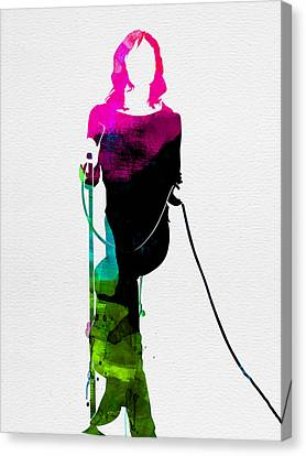 Mick Watercolor Canvas Print by Naxart Studio