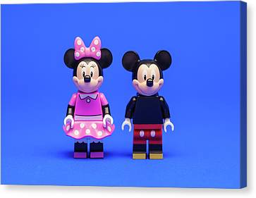 Mickey And Minnie Canvas Print by Samuel Whitton