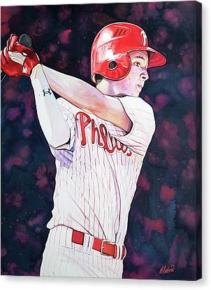 Mickey Moniak Class Of 2016 Canvas Print by Michael Pattison