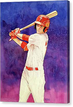 Mickey Moniak Number 1 Pick Canvas Print by Michael Pattison