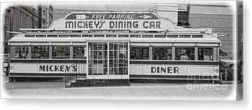 Mickey's Dining Car Canvas Print by Edward Fielding