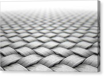 Braids Canvas Print - Micro Fabric Weave by Allan Swart