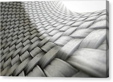 Braids Canvas Print - Micro Fabric Weave Comparison by Allan Swart