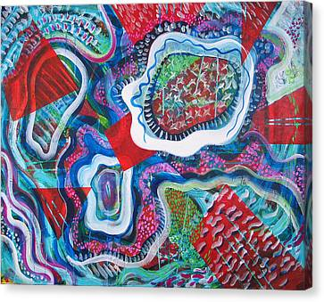 Microcosm Ix Canvas Print by Rollin Kocsis
