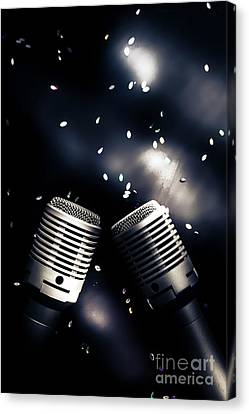 Microphone Club Canvas Print
