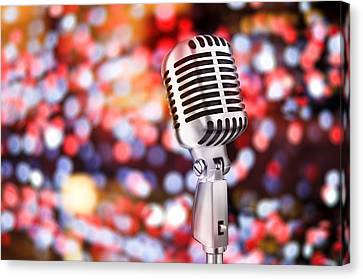 Microphone Canvas Print