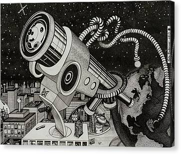 Microscope Or Telescope Canvas Print