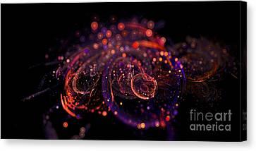 Microscopic Iv - Glass Jewels Canvas Print