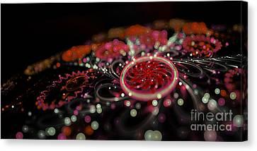 Microscopic V - Glitter Canvas Print