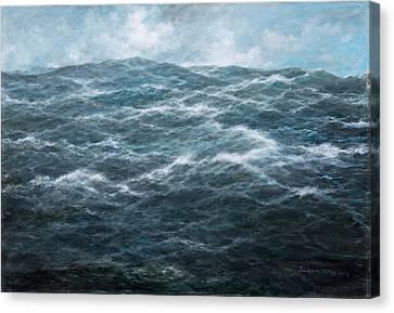 Turbulent Skies Canvas Print - Mid Atlantic by Richard Willis